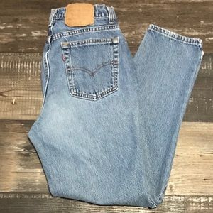 Vintage 512 Levi's Strauss mom jean made in USA